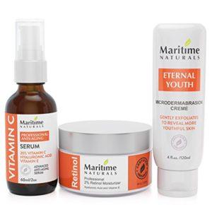 Crema exfoliante de microdermoabrasión antiedad orgánica de Maritime Naturals